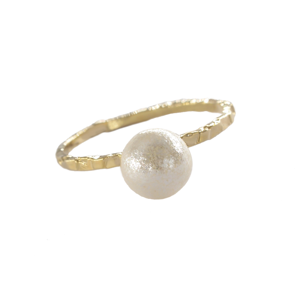 Cool wind joint ring womens imitation pearl ring womens single temperament is versatile, simple and advanced French style