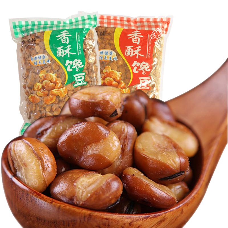 粒香酥蚕豆 零食兰花豆零食小吃散装豆类食品特产休闲坚果4斤批发