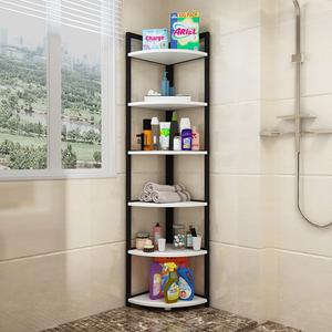 浴室置物架卫生间收纳架洗手间脸盆架子落地多层防水三角储物架柜