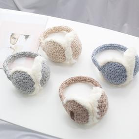 冬季可爱针织毛绒防风柔软冬耳暖