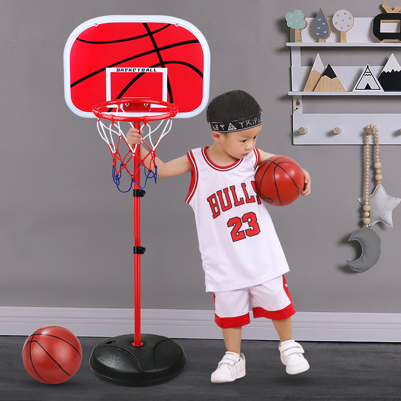 Throw blue basketball stand indoor children can lift floor type childrens family toys play with mom and Dad