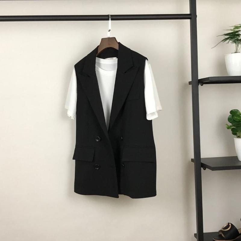 2021新款韩版小香风西装马甲女士春秋短款小个子马夹坎肩背心外套