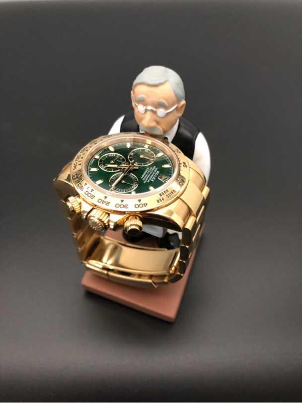 日本正品Motif老头老爷爷老管家创意手表台展示架首饰摆件托盘