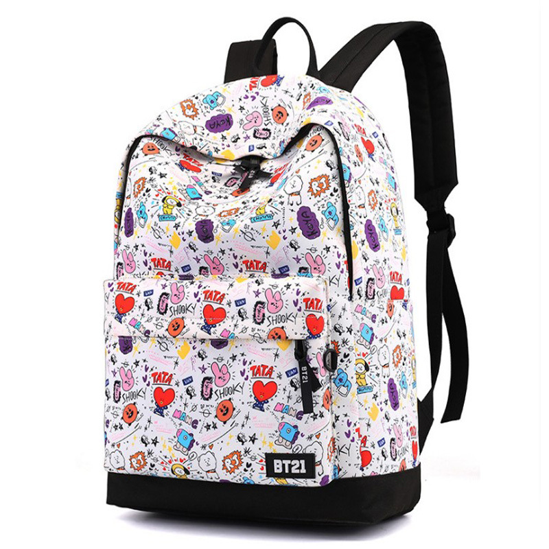 BTS bulletproof Youth Leagues surrounding backpack, lovely school bag for male and female students
