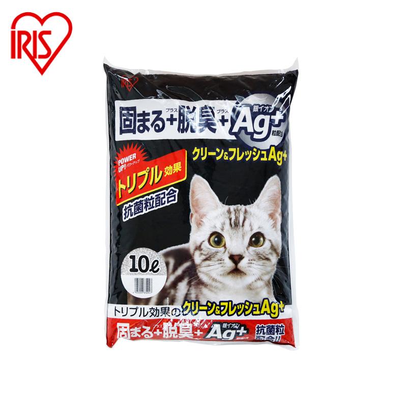 愛麗思IRIS 抗菌膨潤土9kg貓砂結團抗菌除臭貓砂吸水江浙滬包郵