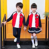 幼儿园园服春夏秋三件套英伦风小学生校服儿童棒球服运动演出班服