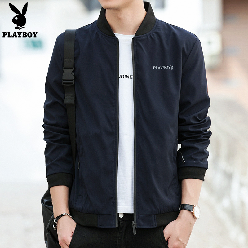 Playboy jacket mens spring and autumn 2020 new Korean fashion mens coat casual slim fit versatile spring wear