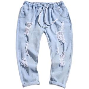 潮牌男破洞2021年新款夏季牛仔裤