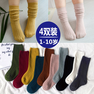 春秋冬季兒童襪子女童純棉中筒襪公主襪韓版男童寶寶長筒堆堆襪潮