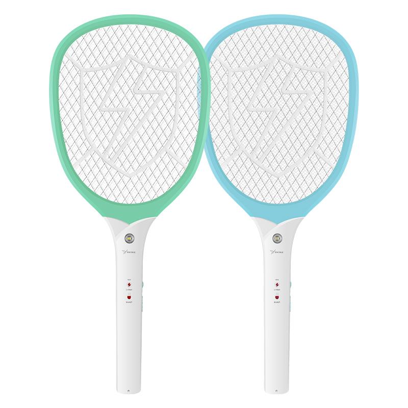 雅格YG-D004充电式电蚊拍 多功能可换电池苍蝇拍 家居灭蚊拍子