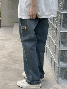 北原山貓 21ss/美式复古水洗工装牛仔裤/vintag