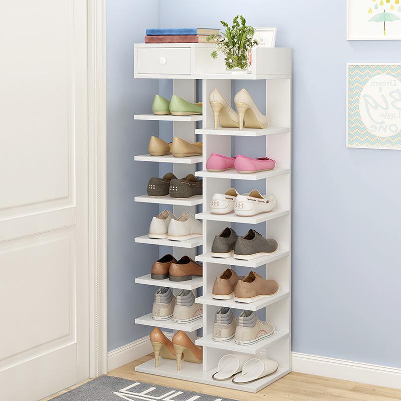 鞋架多层转角小鞋柜简易门口窄旋转家用室内好看角落小型迷你儿童图片