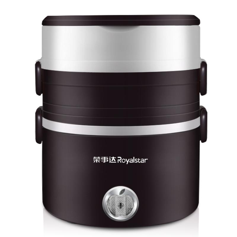 榮事達電熱飯盒熱飯器三層蒸煮飯盒可插電加熱保溫304不鏽鋼飯盒