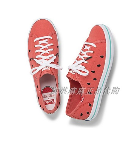 Keds 联名款 西瓜帆布鞋 SunnyLife Watermelon 休闲鞋 WF60266