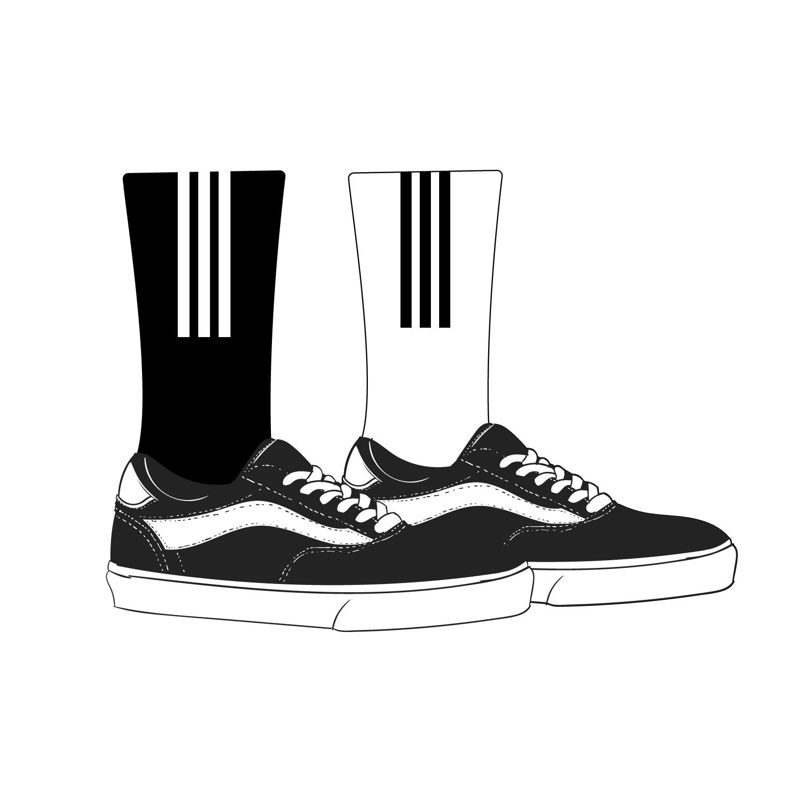 21.80元包邮男街头欧美潮牌嘻哈滑板运动长袜子
