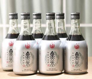 朱鹮黑米酒优惠洋县黑米酒11度黄酒630ml*6瓶整箱陕西汉中特产