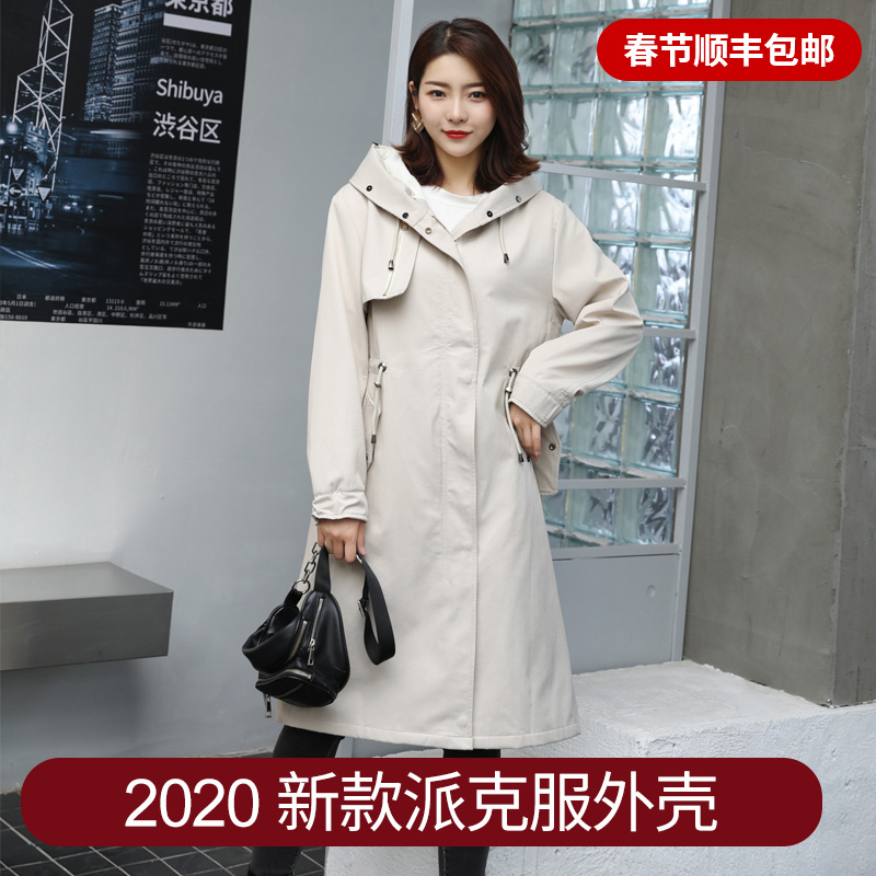 New winter fashion mid long windproof overcoat for women 2020