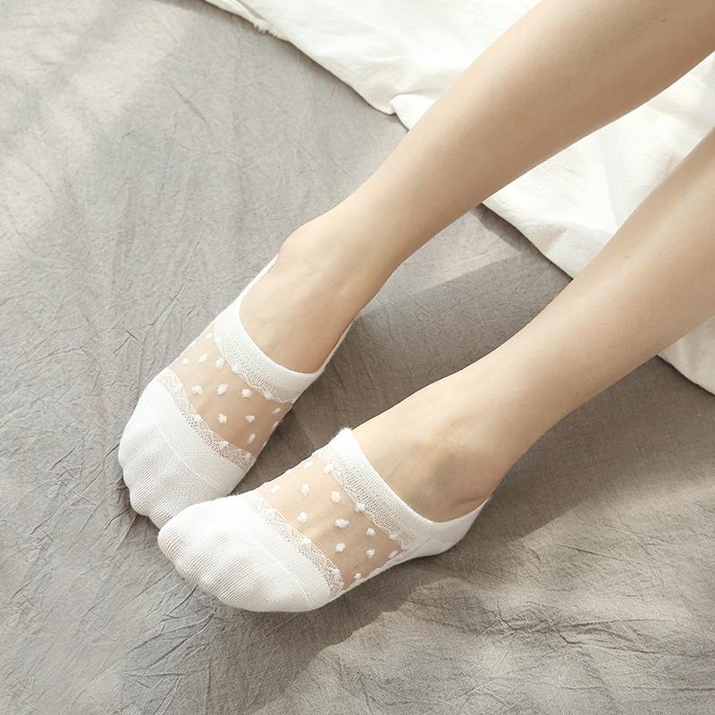 夏季薄款蕾丝船袜女袜子韩国低帮浅口硅胶防滑短袜纯棉防臭隐形袜