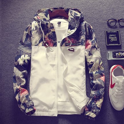 Autumn coat mens slim fit Korean youth jacket autumn winter trend baseball suit casual mens Outerwear upper garment