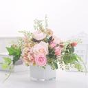 玫瑰仿真花束带假花瓶客厅装饰高品质茶几小摆件ins北欧餐桌花艺