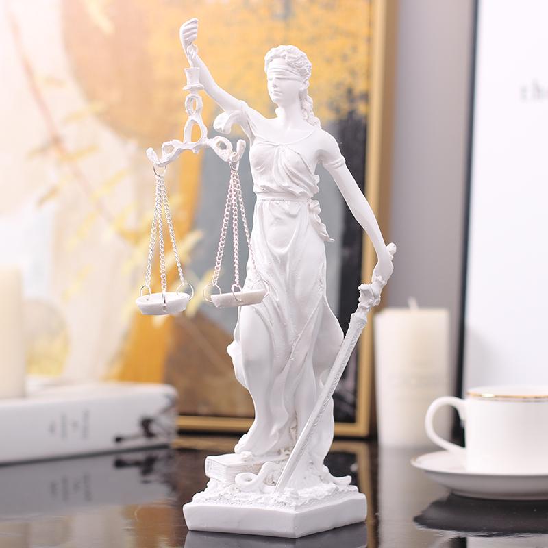 希腊正义公平轻奢天平司法女神摆件北欧式酒柜现代简约客厅雕塑像 Изображение 1