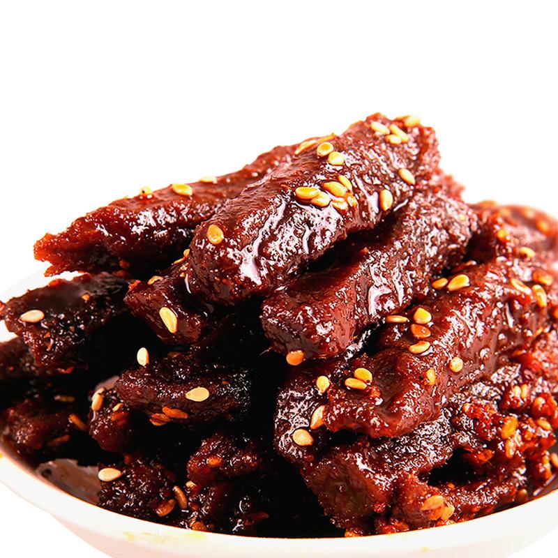是大腿零食店江志忠五香牛肉干牛肉条 独立小包装12g四川特产牛肉