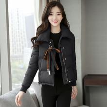 棉服女中长款韩版学生棉衣修身面包服加厚棉袄冬外套p100限价180