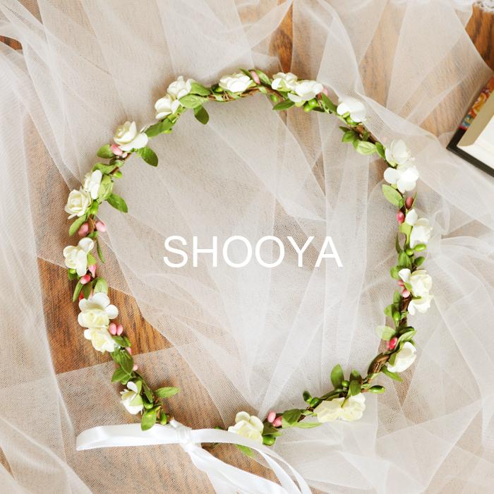 Mori brides wedding dress photo photography headdress wreath headband hairband childrens performance props package mail