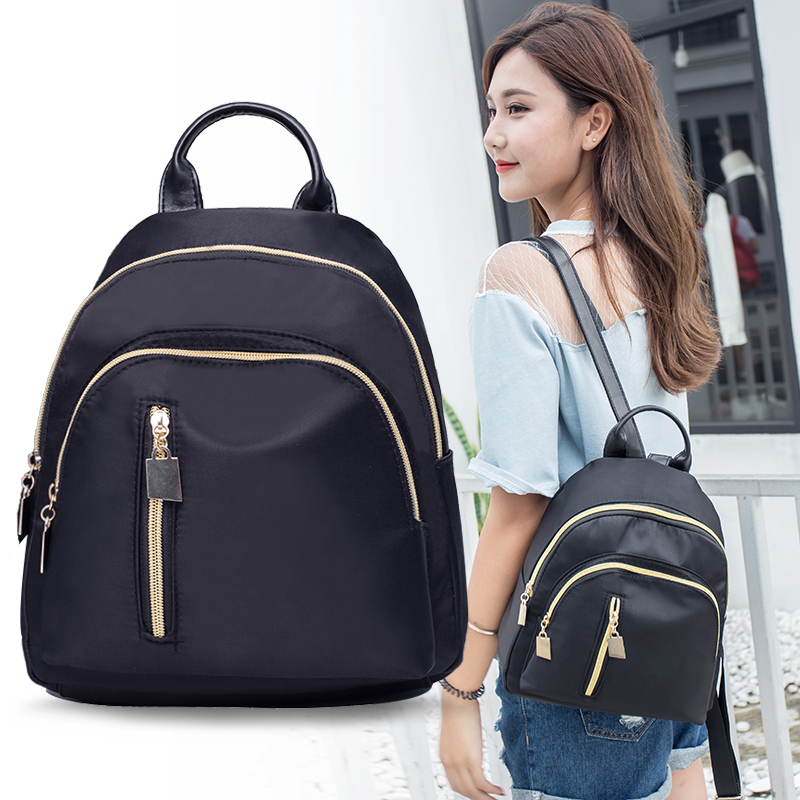 One bag for work, portable canvas trend, 2018 literature and art small backpack, womens high school, double shoulder bag trend, mini