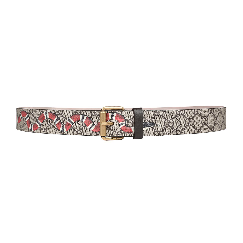 Gucci/古奇 古驰2018新款男士皮带腰带【蛇形印花】434520 K5O1T