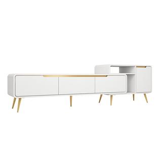 北歐電視櫃茶几組合現代簡約可伸縮電視機櫃輕奢灰色意式極簡地櫃