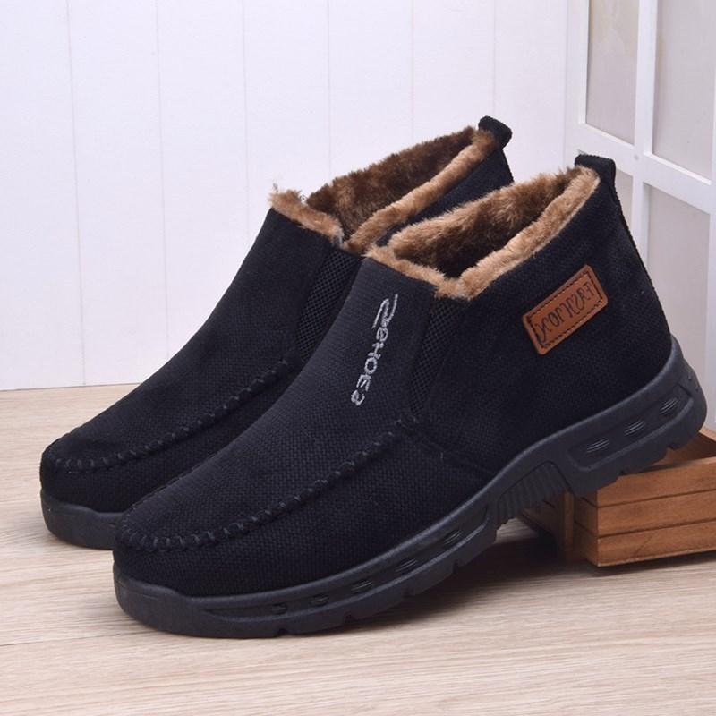 冬季爸爸鞋子男40-50岁中老年运动休闲鞋高帮棉鞋男鞋老人鞋加绒