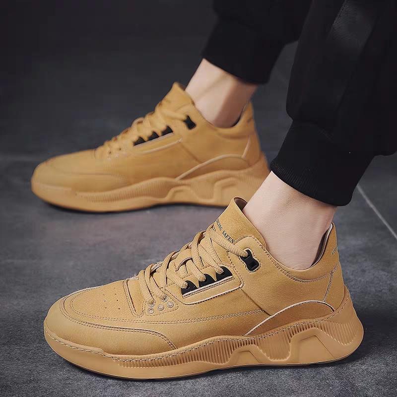 Spring new popular online fashion same fashion retro fashion ultra light Korean sports casual increase low top mens shoes