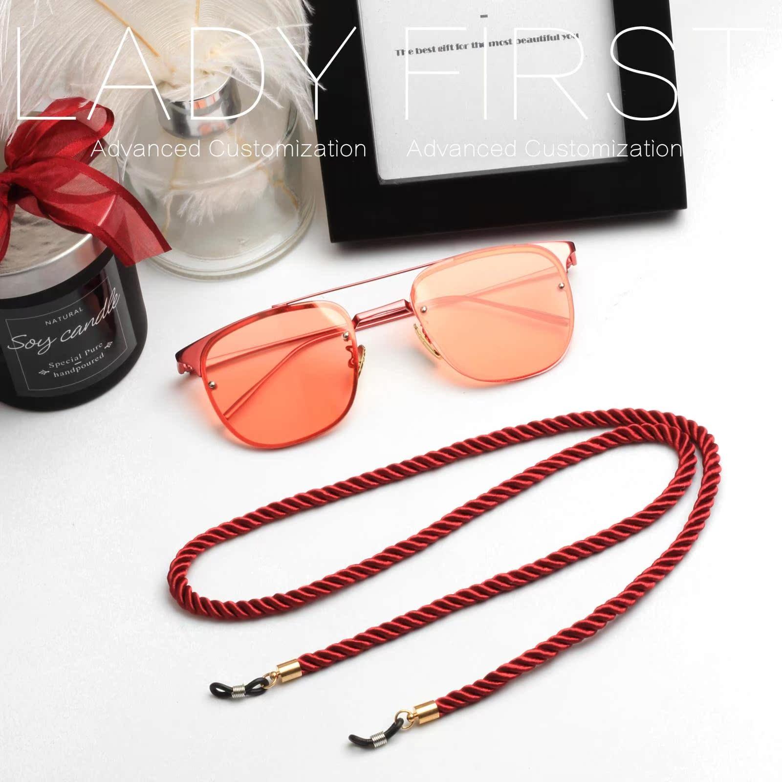 LADYFIRST жемчужина ретро мода солнце декоративный очки цепь повесить за шею старческая дальнозоркость темные очки веревка цепь группа