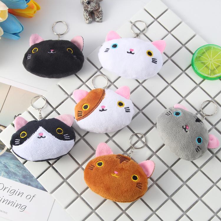 卡通小猫咪毛绒挂件可爱日韩靴下猫挂饰包包钥匙扣玩具配件