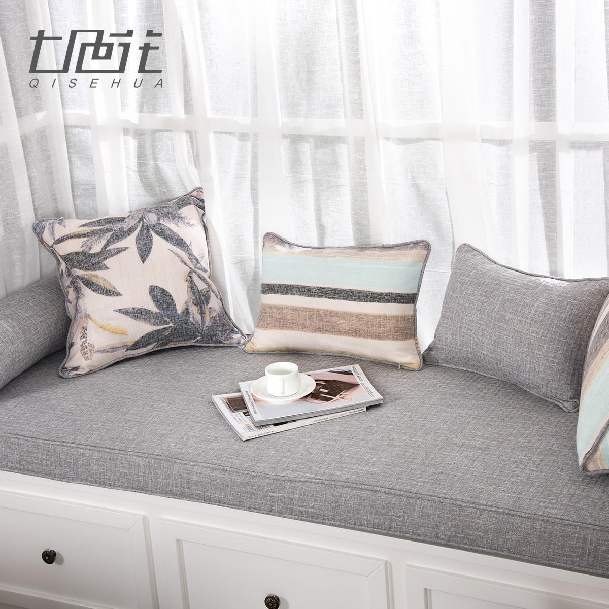 高密度海绵垫定做飘窗垫窗台垫卧室阳台垫子加厚榻榻米现代简约灰