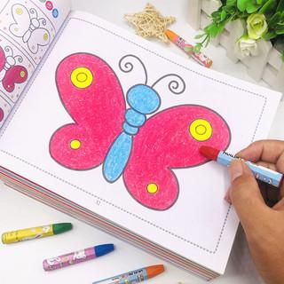 儿童涂色本 幼儿园宝宝学画画书3-4-5-6-7岁小孩涂鸦填色本绘画册