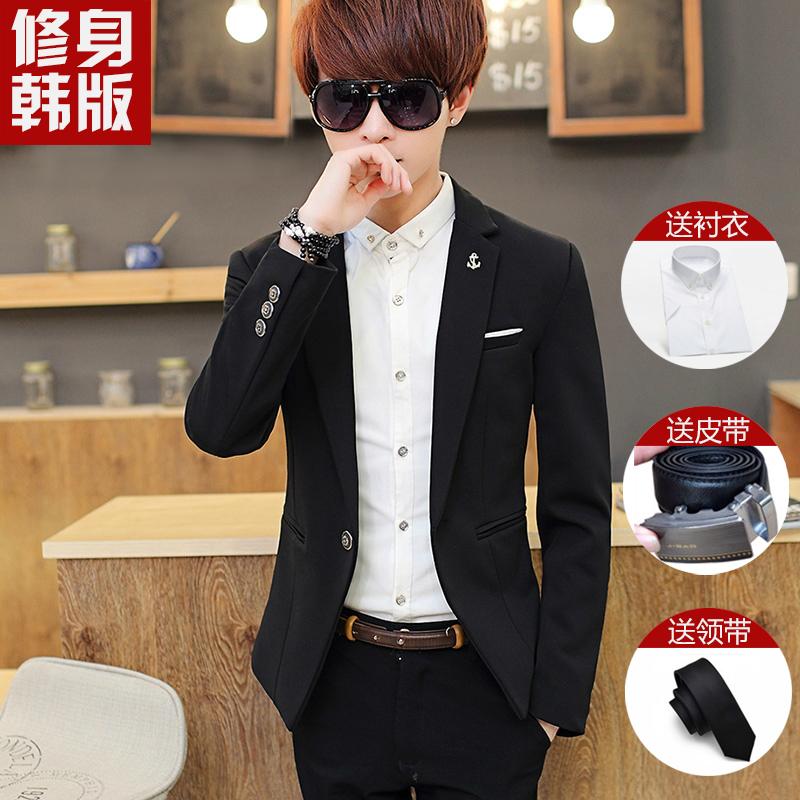 Костюм три образца мужской тонкий корейский костюм установите мужчина студент полный промышленность работа спутник мужчина платья выйти замуж официальная одежда