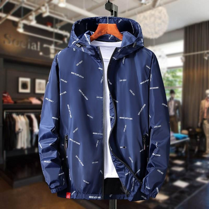 300 kg fat man extra large fat man European camouflage jacket with breathable thin loose casual jacket