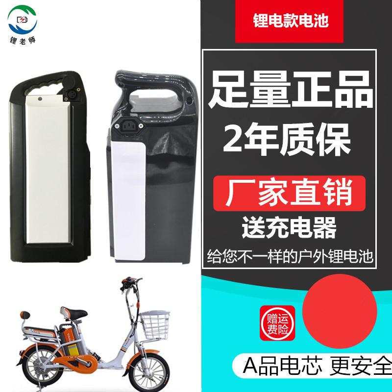 48V锂电池电动自行车电池台铃台嘉松吉雅迪菲尔通用48伏锂电瓶限时2件3折