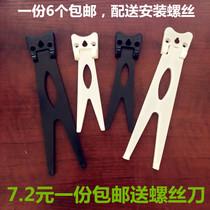 原创签名摆台实木相框黑胡桃木装饰画猫一行物路上见微系列