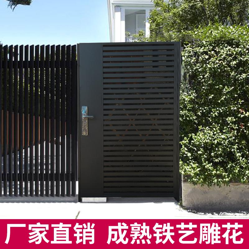 欧美式铁艺别墅庭院大门花园小区院子门别墅栅栏围栏单双开入户门