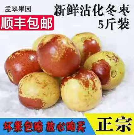 山东沾化冬枣新鲜5斤大荔青红枣