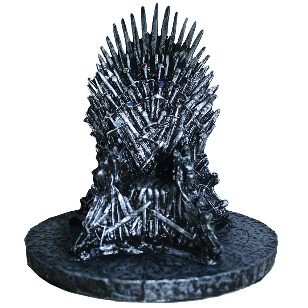 Upgraded version of the power of the game Iron Throne resin ornaments spot