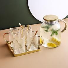 北欧创意玻璃冷水壶杯具套装耐高温客厅家用轻奢茶壶凉开杯子水具