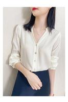 查看芝禾ICICLE之禾女装国内正品代购真丝衬衫长袖V领气质桑蚕丝上衣价格