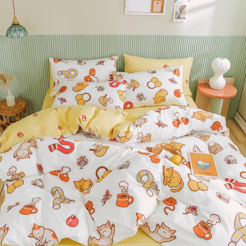儿童床单三四件套全棉纯棉男女孩卡通床上用品学生宿舍被套1.5m米