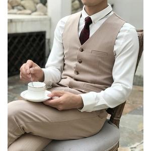 西装马甲套装男韩版修身服结婚礼服