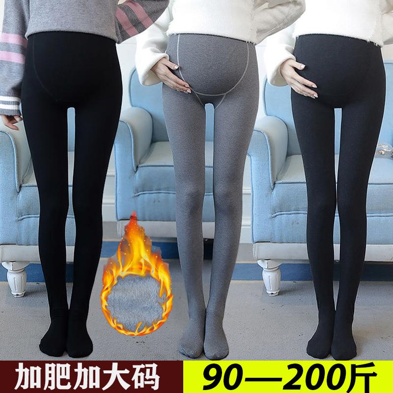 孕妇丝袜托腹秋冬200斤加绒袜子10-17新券
