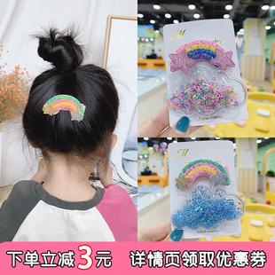 女童流沙發夾兒童bb夾卡碎髮夾子頭飾韓國可愛日系劉海夾髮卡髮飾